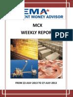 Weakly Report Mcx 22 July