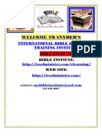 Snyders International Bible and Ministry Training Institue