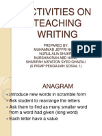 Activities on Teaching Writing