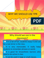 Why We Should Use Tpr