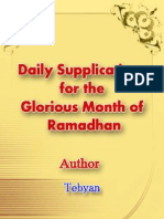 140299589 Daily Supplications for the Glorious Month of Ramadhan
