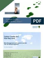 Carbon Credit Presentation Peter Greenham IIGI