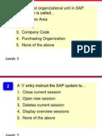 Soal & Jawab SAP Fundamental 1
