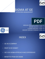 SIX SIGMA AT GE