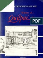 HISTORIA de QUILPUE, TOMO 3, Roberto Troncoso Narvaez, 1987