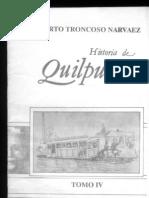 HISTORIA de QUILPUE, TOMO 4, Roberto Troncoso Narvaez, 1989