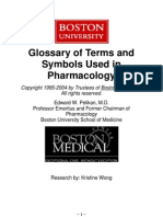Glossary of Terms and Symbols Used in Pharmacology