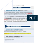 2013 US Department of State Child Passport Instructions (Age 15 & Younger)