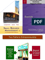 Startups and Buyouts