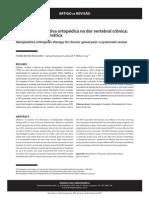 Terapia manipulativa ortopédica na dor vertebral crônica