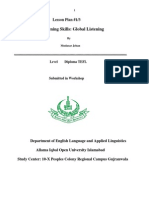 Litening Lesson Plan