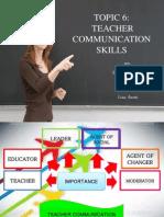 6.1 Communication Skills for Teacher