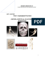 1.1Anatomy Bones,Joints,AndAnatomicalPositions