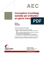 Aec Conception d Outillage Assistee Par Ordinateur en Genie Mecanique Elc25