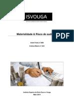 Materialidade & Risco de Auditoria Final