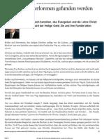 Auf Dass Die Verlorenen Gefunden Werden - April 2012 Generalkonferenz