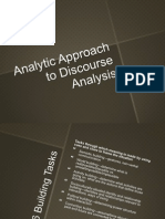 analytical approach to da