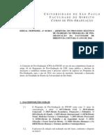 Edital 2013 – seleção de pós-graduação - FDUSP