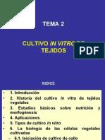 TEMA 2-Cultivo in Vitro de Tejidos Vegetales
