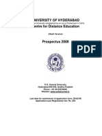 UOHYD Distnace Edu.2008