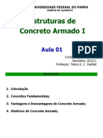 Aula 01 Estruturas de Concreto Armado i 2013 1