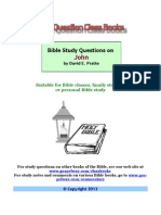 David E. Pratte - Bible Study Questions on John
