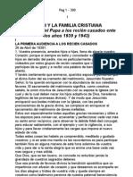 PÍO XII Y LA FAMILIA CRISTIANA-Discursos a recién casados