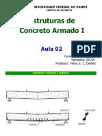 Aula 02 Estruturas de Concreto Armado i 2013 1