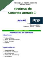 Aula 03 Estruturas de Concreto Armado i 2013 1