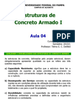 Aula 04 Estruturas de Concreto Armado i 2013 1