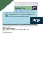 Medical Care - OUtputSrceens