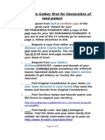 How to Aquire Your Land Through a Declaration of Land Patent