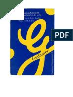 Gadamer. La Actualidad de Lo Bello