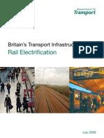 Britain Rail Electrification 2009