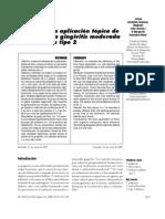 eficacia de la aplicacion de fluor sobre la gingivitis moderada en diabetes tipo 2