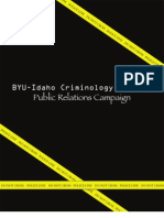 Criminology Society Public Relations Campaign