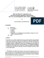 2010 and 2011 EU Competition Law and Case Law Developments With a Nexus to Poland