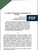 Tomasini, Alejandro. (1999). Los sofistas, Wittgenstein y la argumentación en filosofía (Tópicos, Núm. 17)