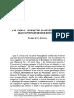 [BOISSAU Pierre-Yves] Racines Slaves d'Un Auteur Francophone