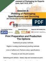 Guyana TFO Pkg W'Shp Session 6 - Printing