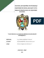 Metodos de Explotacion Subterranea, Informe de Viaje de Estudios