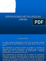 OPERACIONES METALURGICAS CMHSA