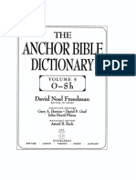 Sacrifice (OT) in Anchor Bible Dictionary