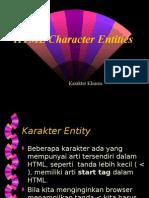 karakter khusus pada html