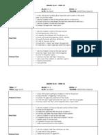 Lesson Plans 10TH Week