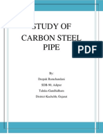 Study of Carbon Steel Pipes 2013