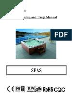 Monalisa Massage Bathtub User Manual