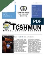 TCSHMUN 2013 NewsLetter