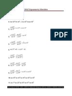10th Trigonometry Identities Test 21 July 2013