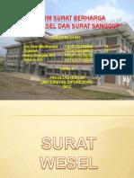 Presentasi Surat Wesel Dan Surat Sanggup